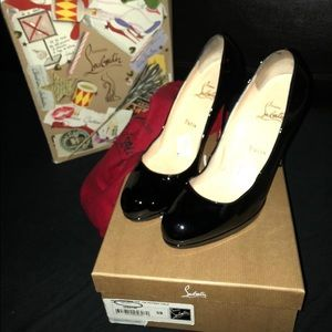 Black patent Simple 120 Christian Louboutin pumps